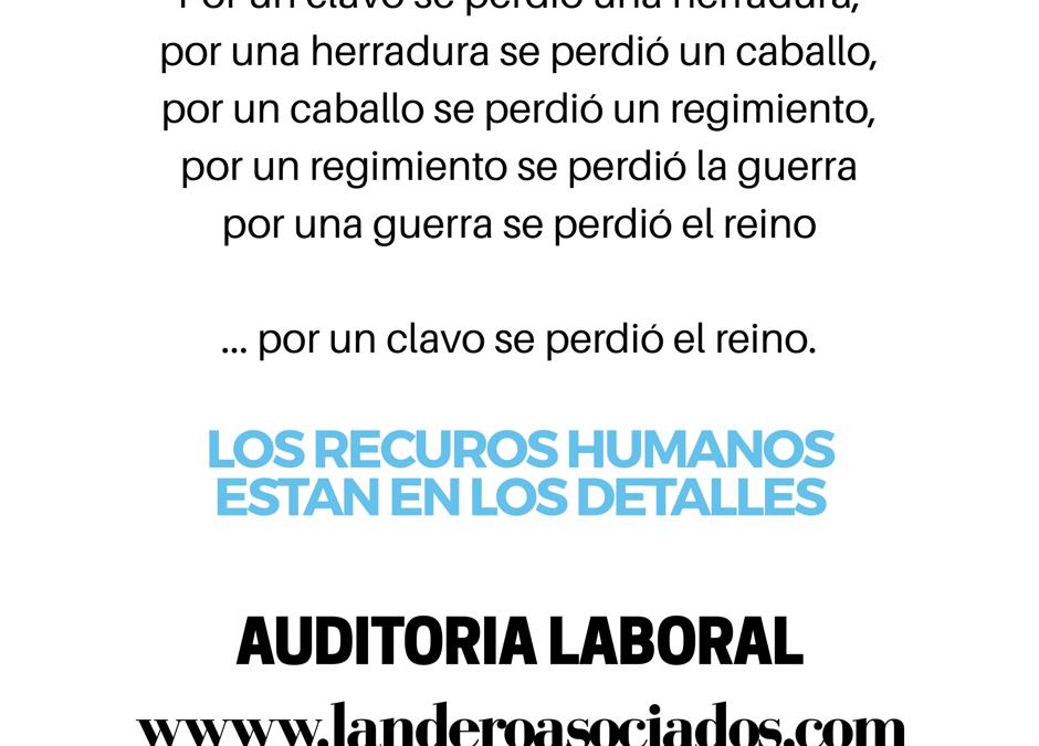Auditoría laboral – proyecto – metodología – costos 2018